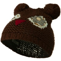 Beanie - Owl Toddler Acrylic Animal Ear Beanie