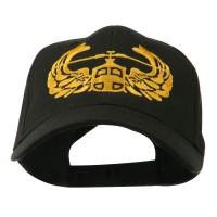 Embroidered Cap - Black Air Assault Badge Embroidery Cap