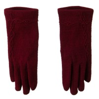 Glove - Red Across Chain Bead Accent Glove