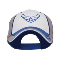 Embroidered Cap - White Royal US Air Force Cotton Cap