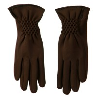 Glove - Coffee Woman's Faux Fur Fiber Glove