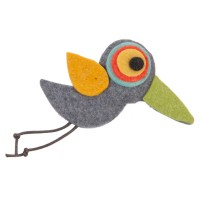 Band - Bird Animal Felt Pin , Hair Clip