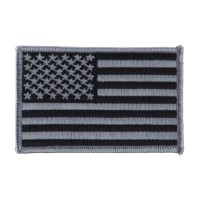 Patch - Grey American Flag Large Patch