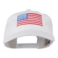Embroidered Cap - American Flag Washed Cap | Free Shipping | e4Hats.com