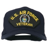 Embroidered Cap - Navy US Air Force Veteran Patch Cap