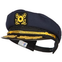 Costume - Navy Adjustable Gold Leaf Captain Hat