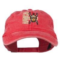 Embroidered Cap - Africa Mask Washed Cap | Free Shipping | e4Hats.com