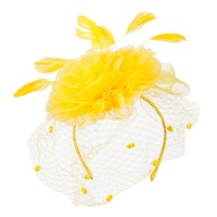 Dressy - Yellow Flower Fascinator Netting