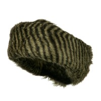 Warmer - Zebra Patterns Fur Headband