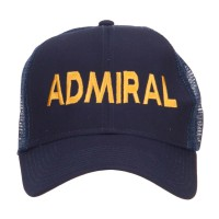 Embroidered Cap - Admiral Embroidered Mesh Cap | Free Shipping | e4Hats.com