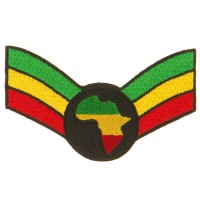 Patch - Crown Wing Africa Assorted Rasta Patch