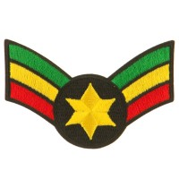 Patch - Crown Wing Star Assorted Rasta Patch