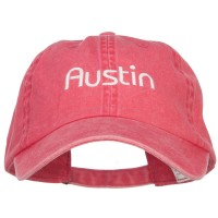 Embroidered Cap - Austin Embroidered Washed Cap