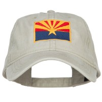 Embroidered Cap - Arizona State Flag Washed Cap | Free Shipping | e4Hats.com