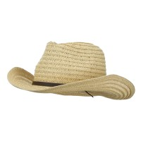 Western - Natural Men's Braided Straw Hat