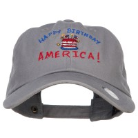 Embroidered Cap - Birthday America Embroidered Cap