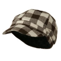 Newsboy - Brown Buffalo Checker Newsboy Hat