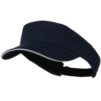 Visor - Navy White Brushed Cotton Sandwich Visor
