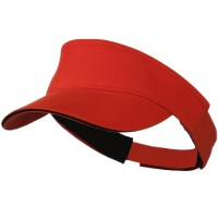 Visor - Orange Black Brushed Cotton Sandwich Visor