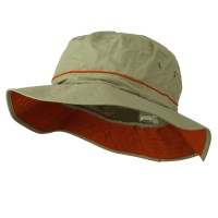 Bucket - Khaki Big Size Adjustable Talson Bucket Hat