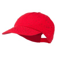 Ball Cap - Red Bejeweled Glitter Baseball Cap