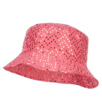 Bucket - Pink Ladies Bling Disk Bucket Hat