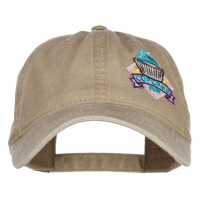 Embroidered Cap - Khaki Ribbon Cupcake Patched Cap