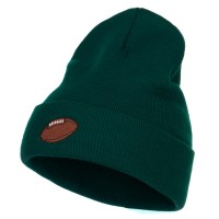 Beanie - Football Embroidered Long Beanie | Free Shipping | e4Hats.com