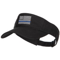 Visor - Blue Line Flag Embroidered Visor | Free Shipping | e4Hats.com