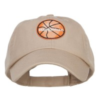 Embroidered Cap - Basketball Patched Low Cap | Free Shipping | e4Hats.com