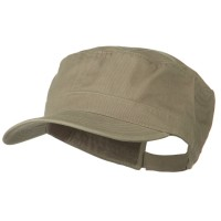 e4Hats.com: Big Size Solid Military Cap - Khaki