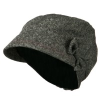 Newsboy - Heather Grey Polly Bow Newsboy Hat