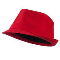 Fedora - Red Basic Poly Woven Fedora Hats