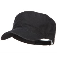 Cadet - Black Big Size Cotton Ripstop Army Cap