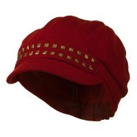 Newsboy - Red Brass Stud Women's Newsboy