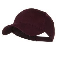 Ball Cap - Maroon Youth Brushed Cotton Twill Cap