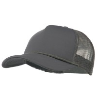 Ball Cap - Grey Big Size Foam Mesh Truck Cap