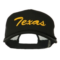 Embroidered Cap - Black Big Size Texas Embroidered Cap