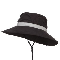 Outdoor - Black Microfiber UV Sun Brim Hat