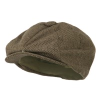Newsboy - Brown Putty Big Size Washed Cap