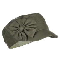 Cadet - Olive Women's Bow Accent Military Cap