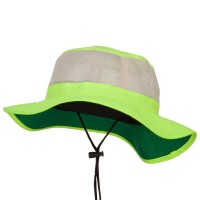Outdoor - Neon Yellow Big Size Safety Boonie Hat