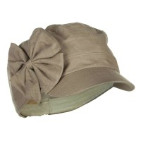 Cadet - Khaki Women's Bow Accent Military Cap