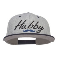 Embroidered Cap - Navy Grey Hubby Embroidered Snapback