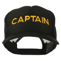 Embroidered Cap - Black Youth Captain Embroidered Cap