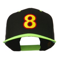 Embroidered Cap - 8 Embroidered Two Tone Cap | Free Shipping | e4Hats.com