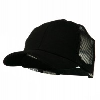 Ball Cap - Black Cotton Brush Mesh Cap