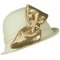 Bucket - Cloche with Big Sequin Bow | Free Shipping | e4Hats.com