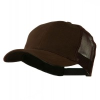 Ball Cap - Brown Cotton Brush Mesh Cap