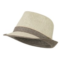 Fedora - Beige Taupe Children's Poly Cotton Fedora